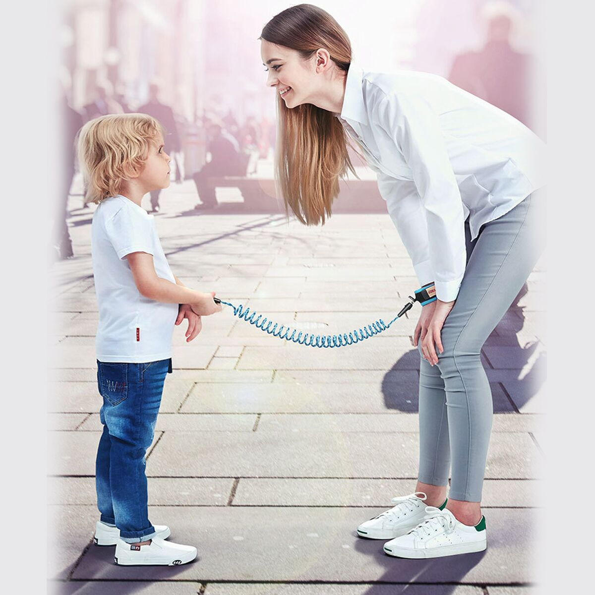 Kids Baby Safety Lock Anti-lost Night Reflective Harness Rope Wristband Child Leash
