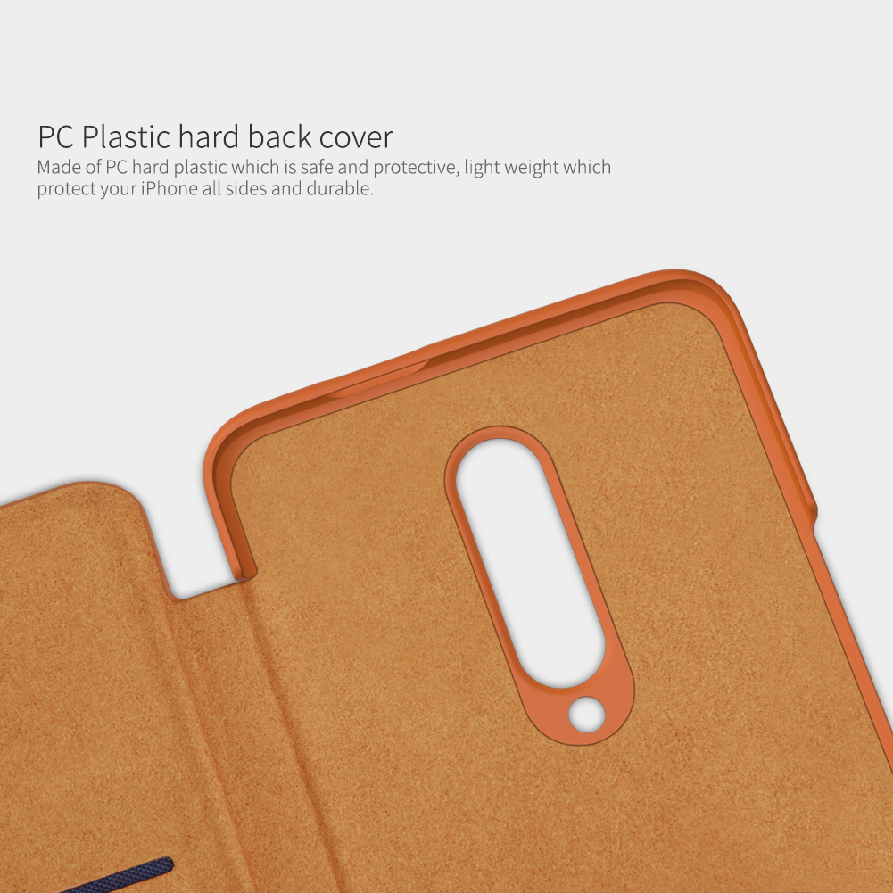 NILLKIN Flip Shockproof Card Slot Holder PU Leather Protective Case for OnePlus 7 Pro