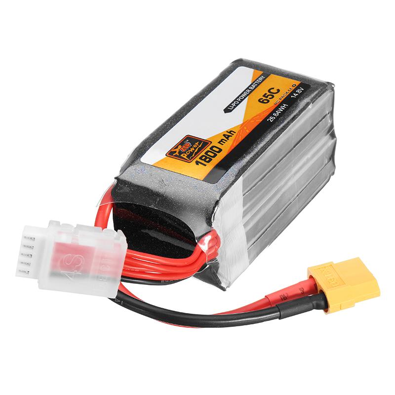 ZOP Power 14.8 V 1800 mAh 65C 4S Lipo-batterij XT60-stekker voor RC FPV Racing Drone