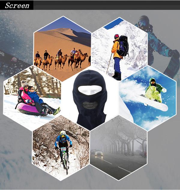 Fleece Balaclava Neck CS Hat Hood Outdoor Sports Ski Bicycle Full Face Mask Hat Cap