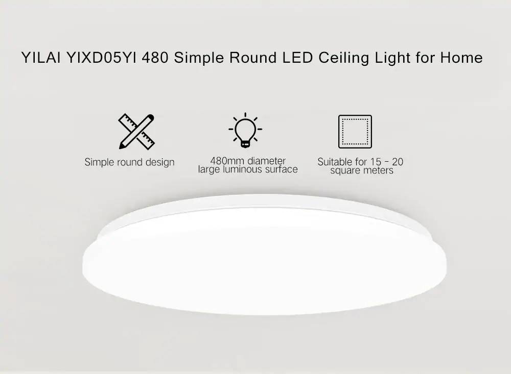 Yeelight YILAI YlXD05Yl 32W 480 Simple Round LED Smart Ceiling Light for Home AC220V (Xiaomi Ecosystem Product)