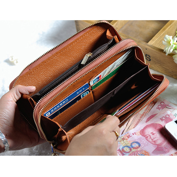Stone Pattern Multi-function Long Wallet Purse Phone Bag