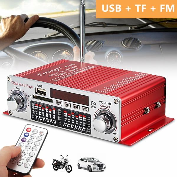 12V Car Bluetooth Mini Amplifier BT Digital Player FM FM Radio Speaker USB