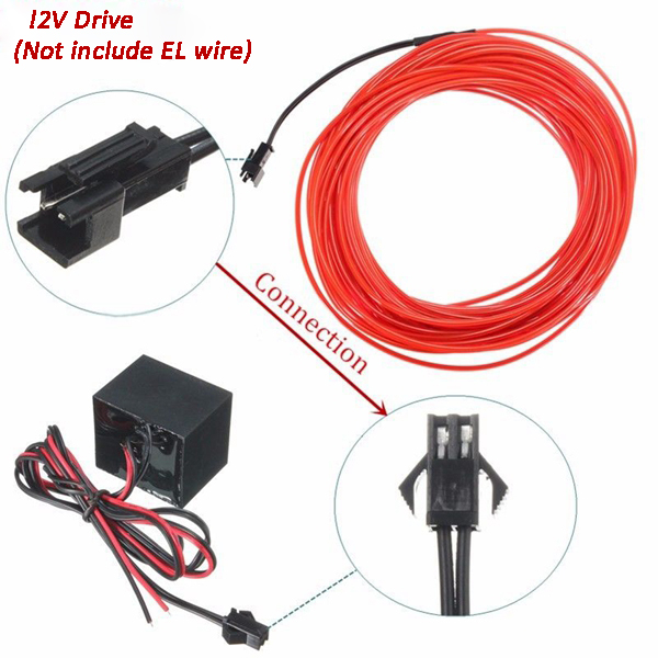 DC 12V Drive Controller For 1-20M LED Strip Light El Wire Glow Flexible Neon Decor