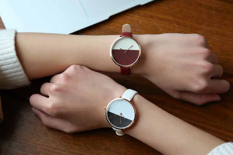 Colorful Simple Designs Women Wrist Watch