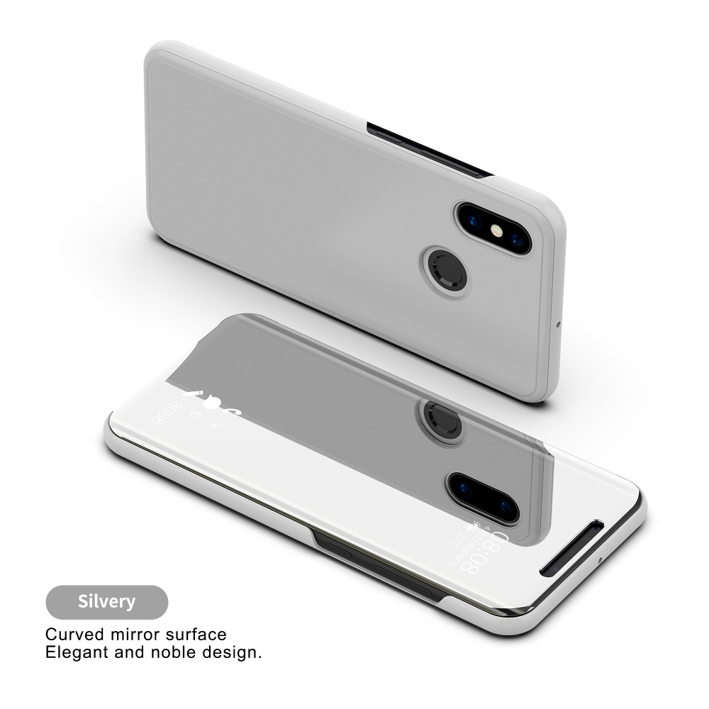 Bakeey Flip Smart Sleep Mirror Window View Bracket Protective Case For Xiaomi Redmi Note 6 Pro