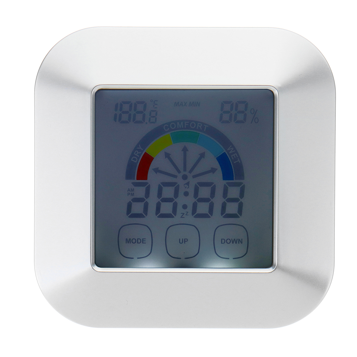 Indoor Thermometer Humidity Monitor Touchscreen Backlight Timer Smart Digital Hygrometer Temperature