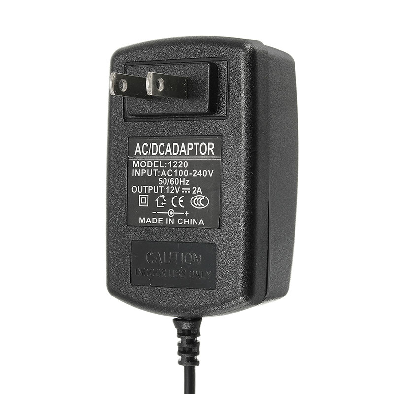 12V 2A AC/DC 3.5MM Output EU/US Power Supply Adapter
