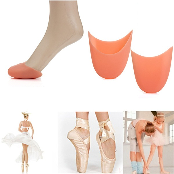 1 Pair Ballet Dance Foot Support Silicone Gel Flat Shoe Pad