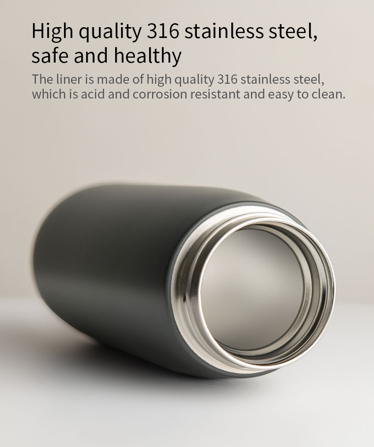 XIAOMI FunHome Portable Thermos Cup 450ML with Tea Filter Portable Mug Water Bottle Vacuum Cup