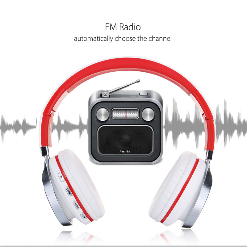 Universal FM Radio NFC Foldable TF Card On-ear bluetooth Headphone Headset with Mic for Mobile Phone