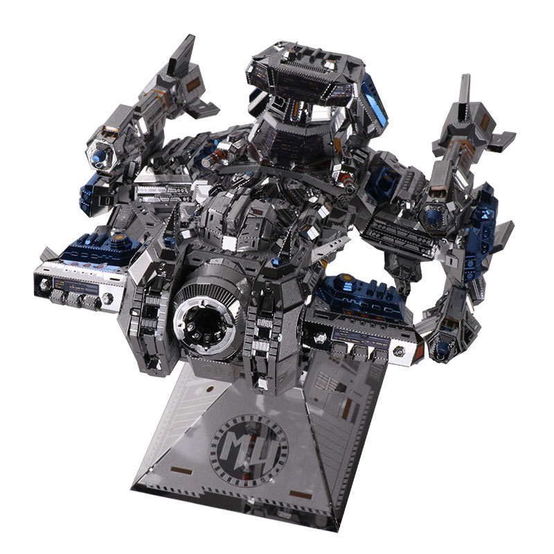 MU DIY Jigsaw Puzzle 3D Metal Stainless Steel Machine Model Building Kits For Kids Children Gift