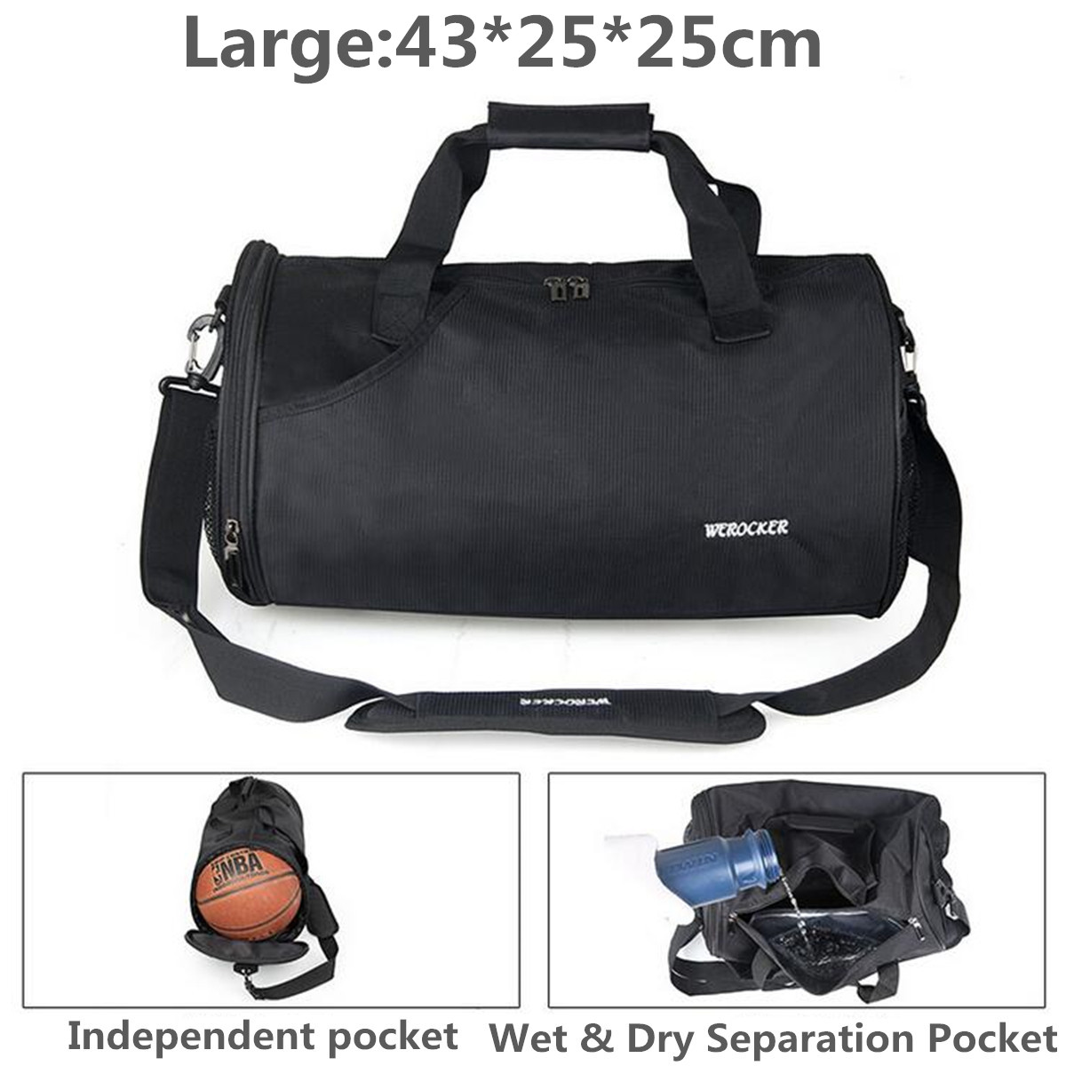 72aa2746a1 outdoor sport gym duffle backpack luggage travel fitness shoulder ...