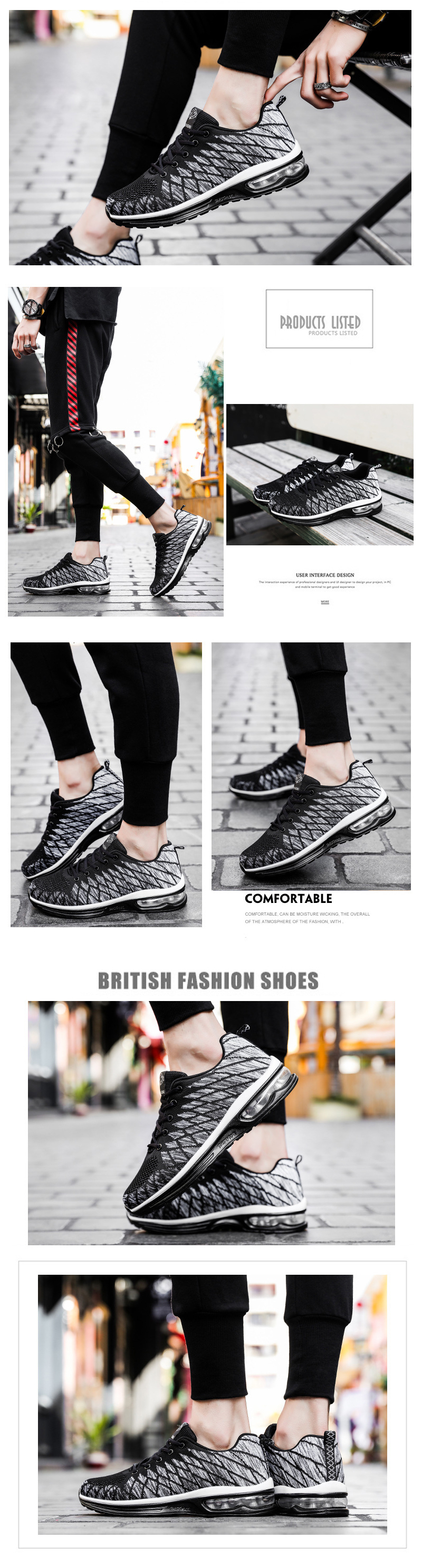 Men Running Shoes Light Fashion Athletic Shoes Outdoors Sports Sneakers