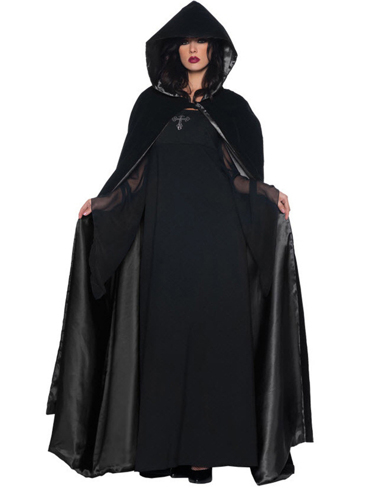 Halloween Vampire Devil Witch Costume Cosplay Party Dress with Cloak
