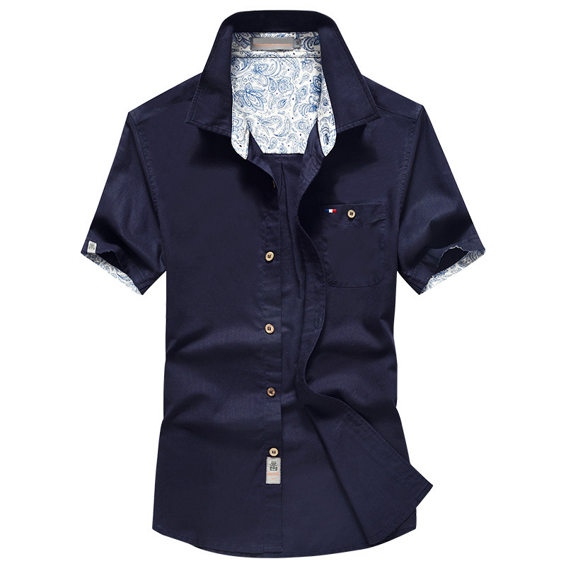 Mens Summer Cotton Linen Wicking Short Sleeve Pocket Shirts