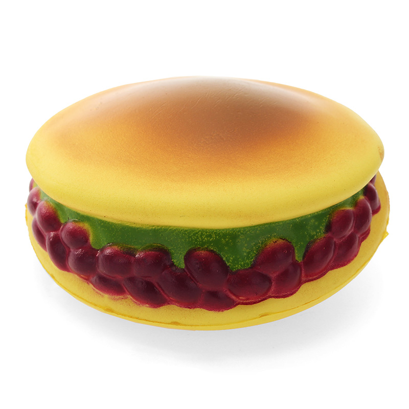 Squishy Japanese Burger Bread 10cm Slow Rising With Packaging Collection Gift Decor Toy