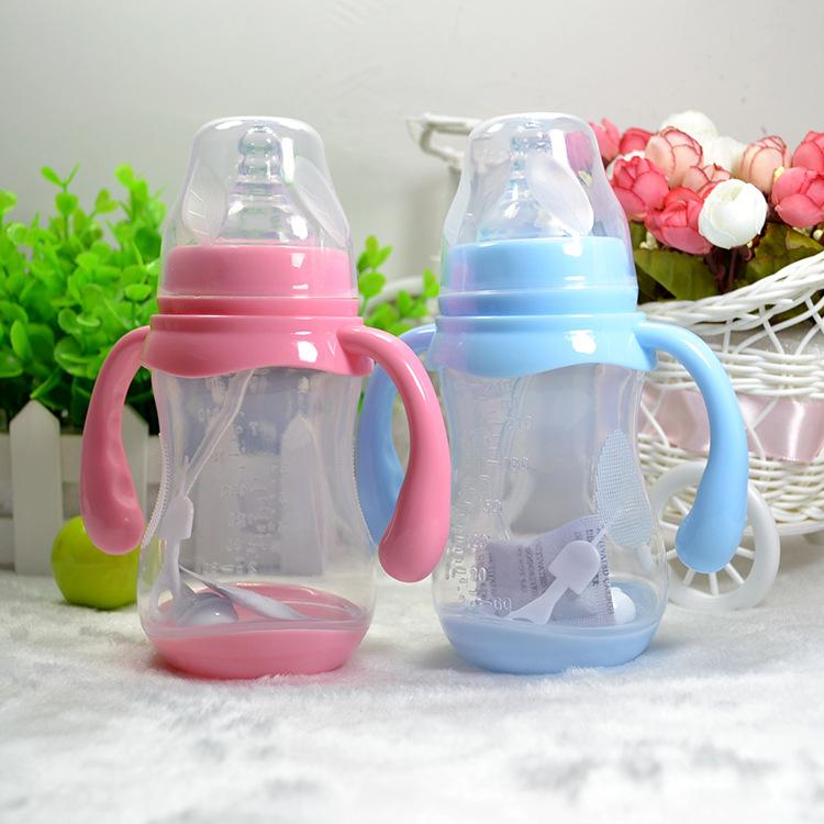 240ml 320ml 1PC Wide-bore Bottles Warm Temperature Milk Bottle
