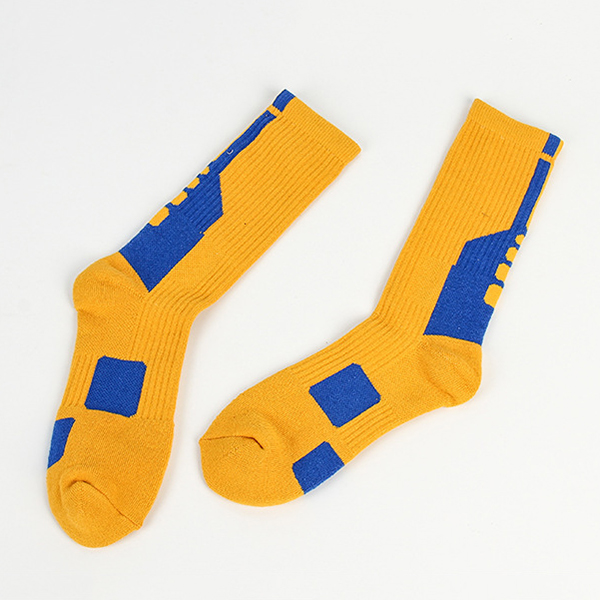 Mens Cotton Geometry Patchwork Antibacterial Socks Breathable Sport Socks