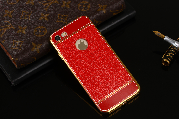 Bakeey™ Litchi Grain Plating TPU Silicone Ultra Thin Shockproof Cover Case for iPhone 7 4.7 Inch