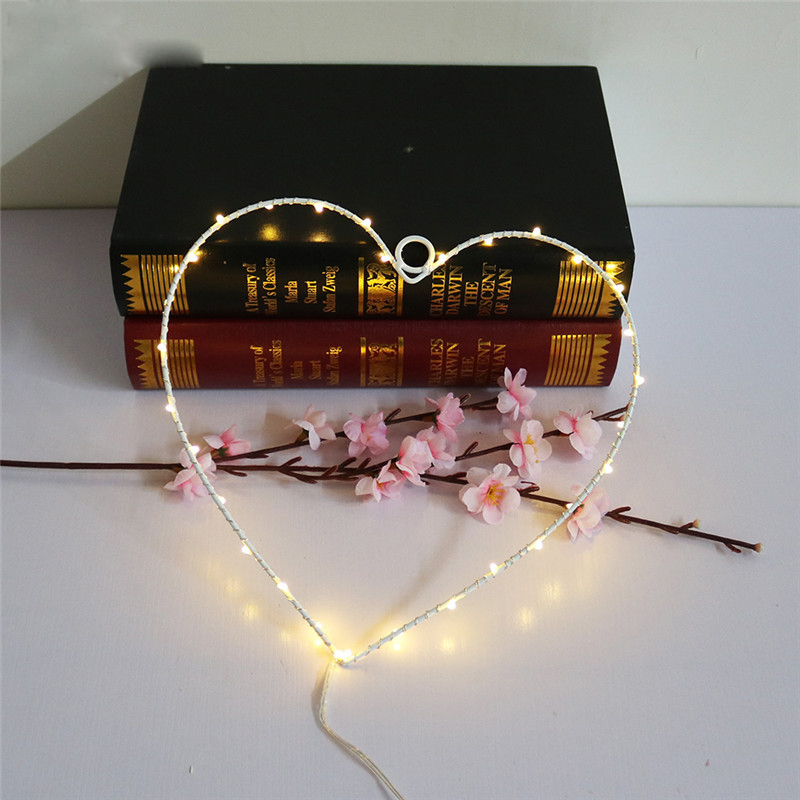 Hot Selling Hearts Letter Lamp On Wall LED Night Light Christmas Wedding Decoration Curtain Lights Christmas Decoration Fairy Battery Operated Led String Lights for Christmas Wedding Festoon Party