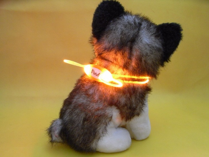Colorful LED Pet Dog Collar Chain Luminous Light LED Dog Cat Night Light Collar