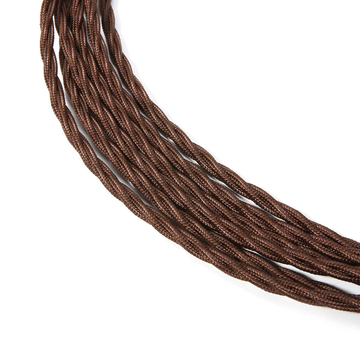 5M Twisted Vintage Style 3 Core Wire Fabric Cable for Pendant Lighting
