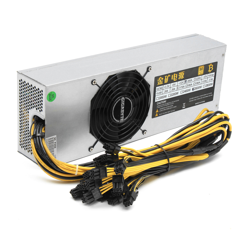 2600W Mining Miner Machine Mining Rig Antminer Power Supply Antminer S7 S9 L3 L3+