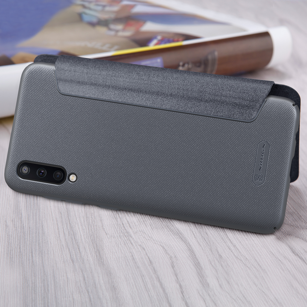 NILLKIN Frosterd PU Leather Full Cover Flip Anti-scratch Protective Case for Samsung Galaxy A50 2019