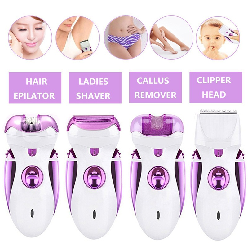 4 In 1 Rechargeable Epilator Full Body Hair Removal Armpit