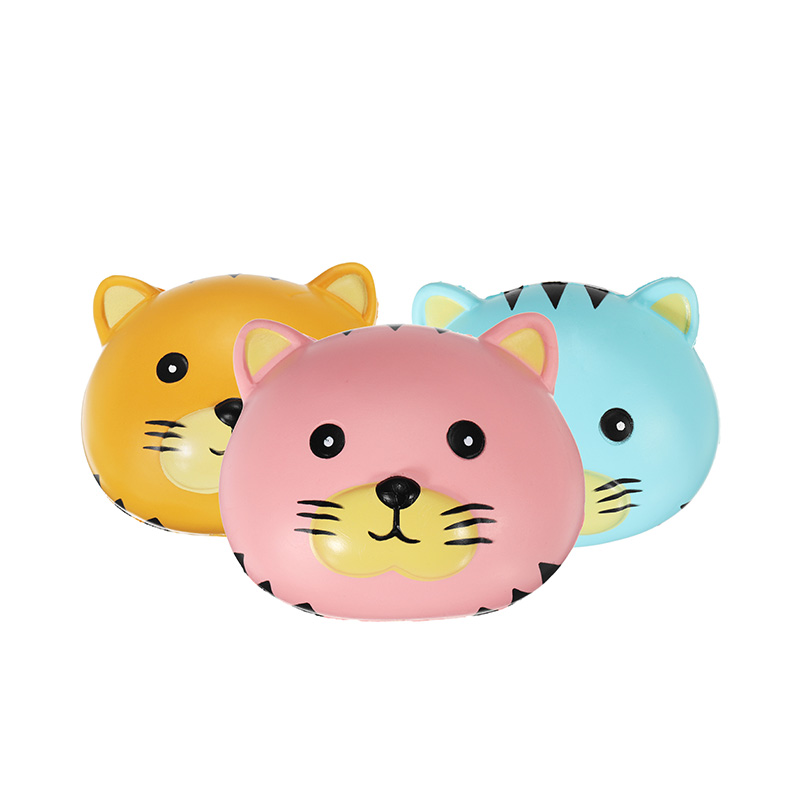 Oriker Squishy Tiger Face Ball Bun 10cm Soft Sweet Slow Rising Original Packaging Collection Gift