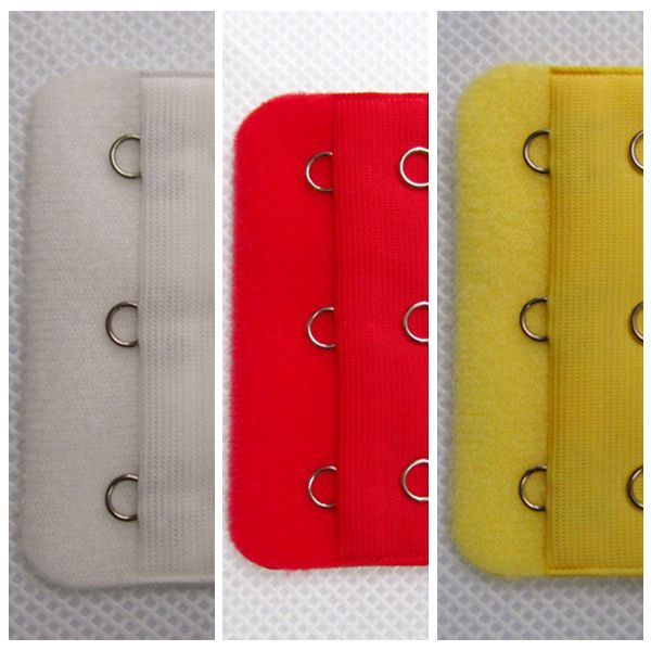 3 Pieces Soft Thin Three Rows Three Hooks Bras Strap Extender Extension Back Band