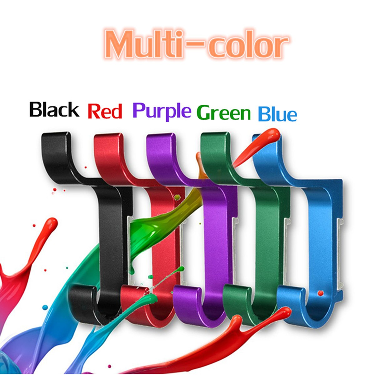 Double Layers Colorful Space Alumimum Wall Mounted Clothes Towel Robe Hook Sundries Hanger