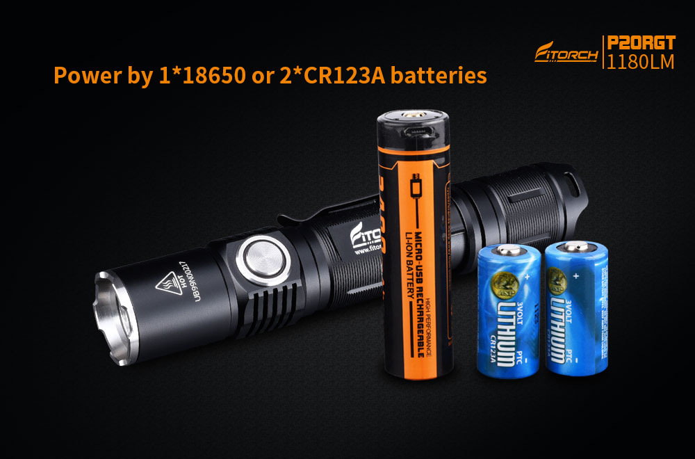 Fitorch P20RGT 1180lm High Lumen 245m USB Rechargeable Powerful Tactical LED Flashlight