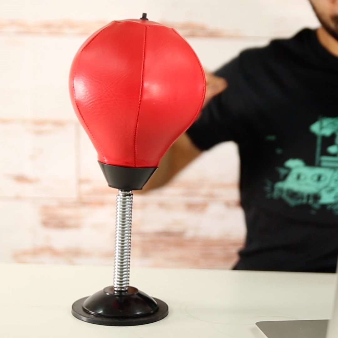 Stress Reliever Desktop Boxing Speed Ball Punching Ball with Pump