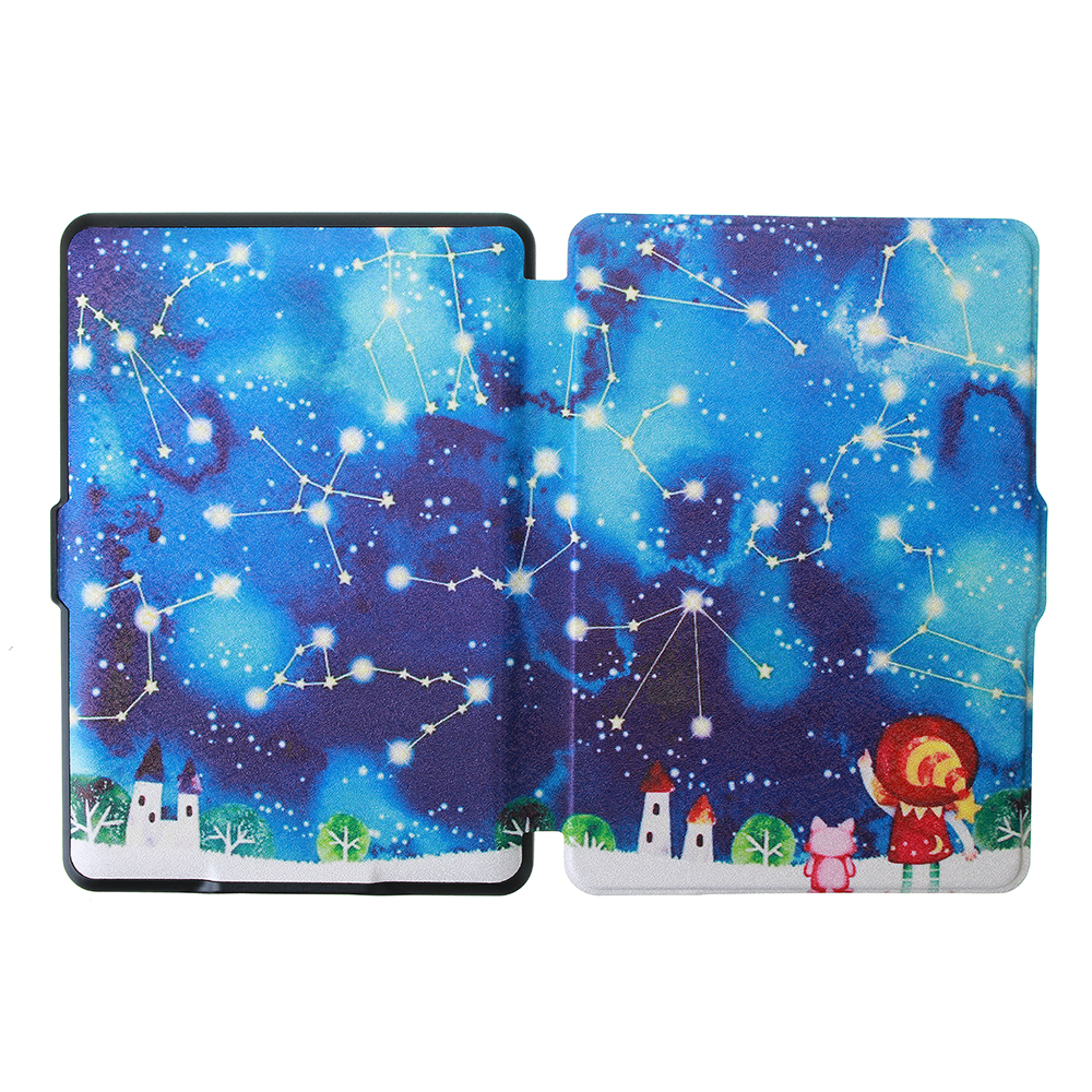 ABS Plastic Twelve Constellations Painted Smart Sleep Protective Cover Case For Kindle Paperwhite 1/2/3 eBook Reader