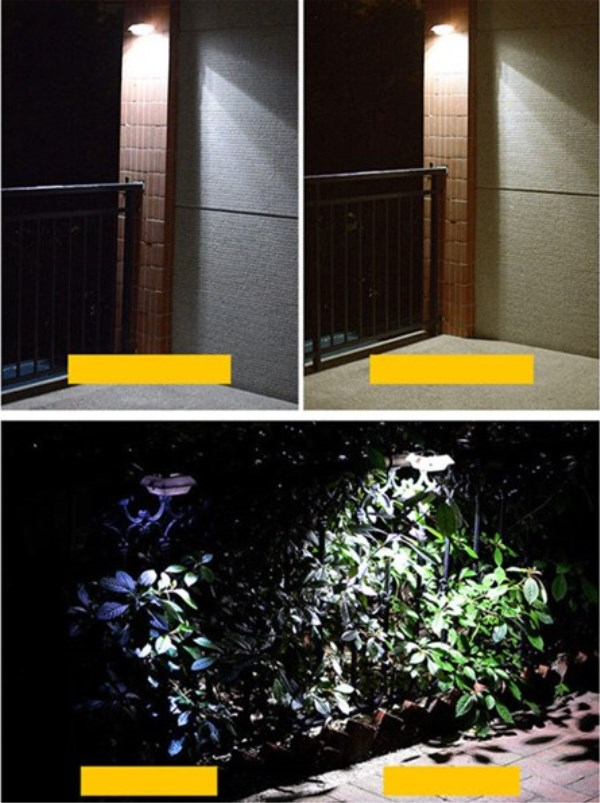 Waterproof LED Solar Lights Motion Sensor Lawn Flood Lamp Wall Hanging Durable Fence Light for Home