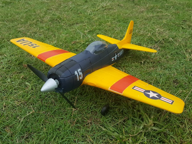 F6F 2.4G 4CH 6-Axis Gyro Easy Flying Trainer EPO Warbird RC Airplane RTF
