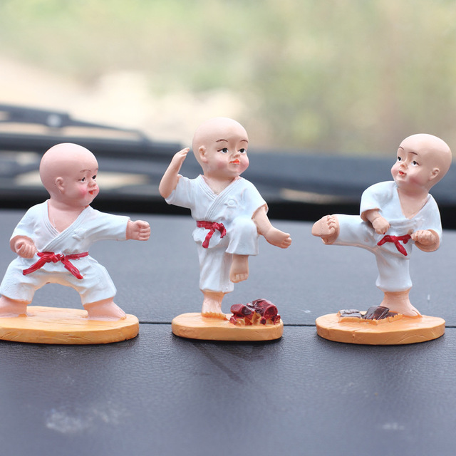 Creative Home Decorations, Cute Shaolin Kungfu, Small Monk, Gift Decoration, Car Interior Jewelry Doll