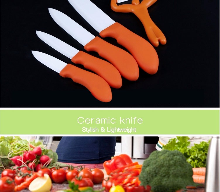 Ceramic Knife Set Kitchen Knives Fruit Knife Peeler Slicer Set Kitchen Tool