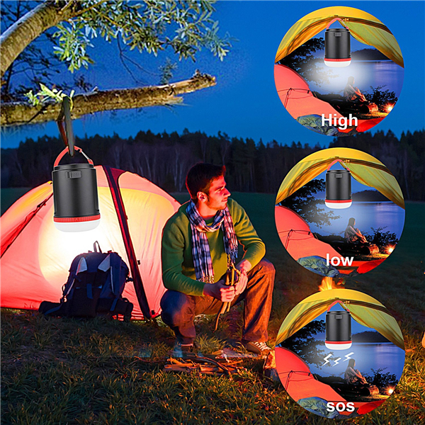 LED Camping Lantern 10000mAh Power Bank Rechargeable Battery Waterproof Emergency Outdoor Light