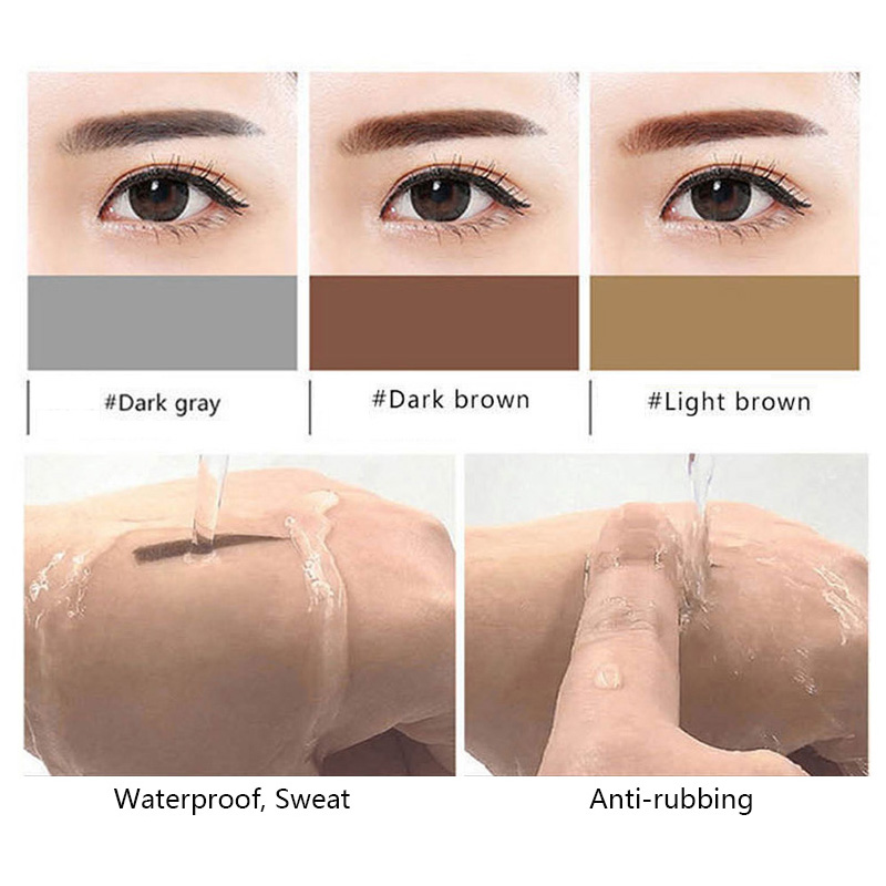 Grey Brown Stamp Seal Eyebrow Powder Makeup Brow Waterproof Eye Cosmetic Tool