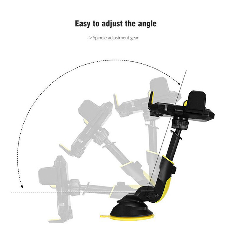 Universal Powerful Suction Cup Long Arm Car Mount Dashboard Holder for Xiaomi Mobile Phone