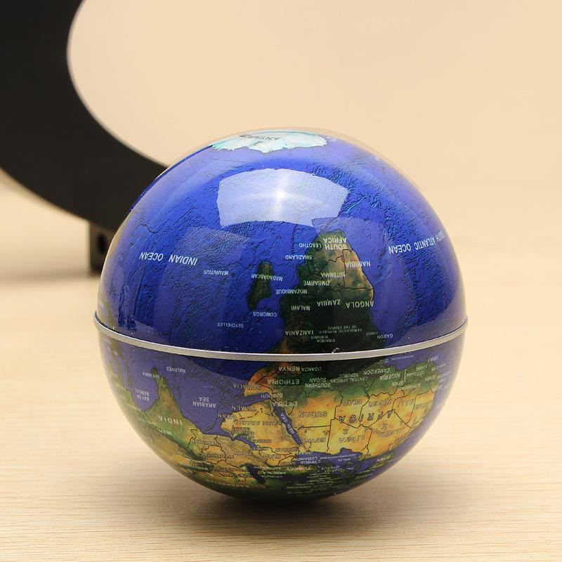 C Shape Magnetic Levitation Floating Globe World Map With LED Lights