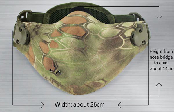 WoSporT Camouflage Half Face Mask For Airsoft CS Paintball Tactical Military Costume