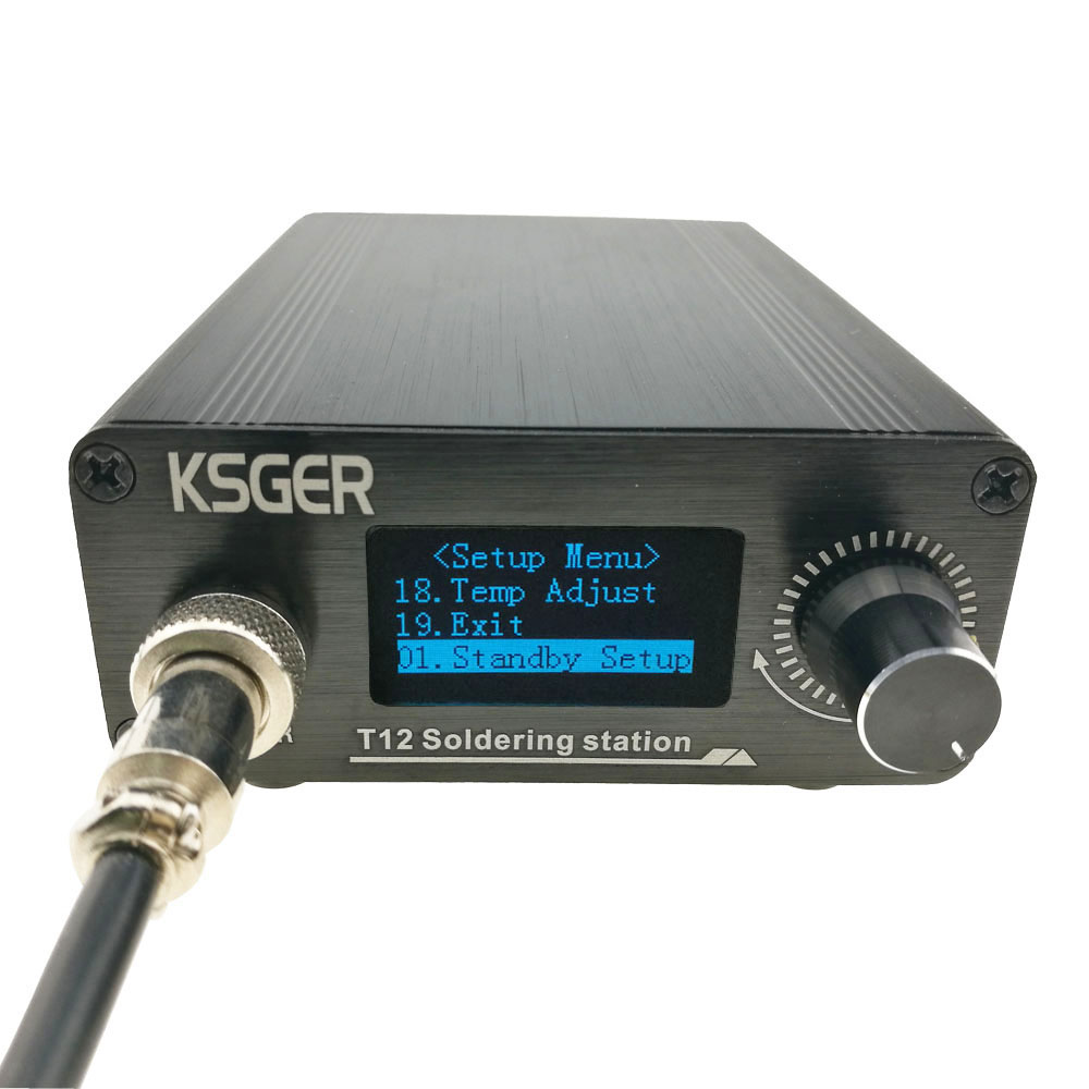 KSGER V2.1S T12 Digital Temperature Controller Soldering Station Electric Soldering Iron Tips T12-K + 9501 Handle
