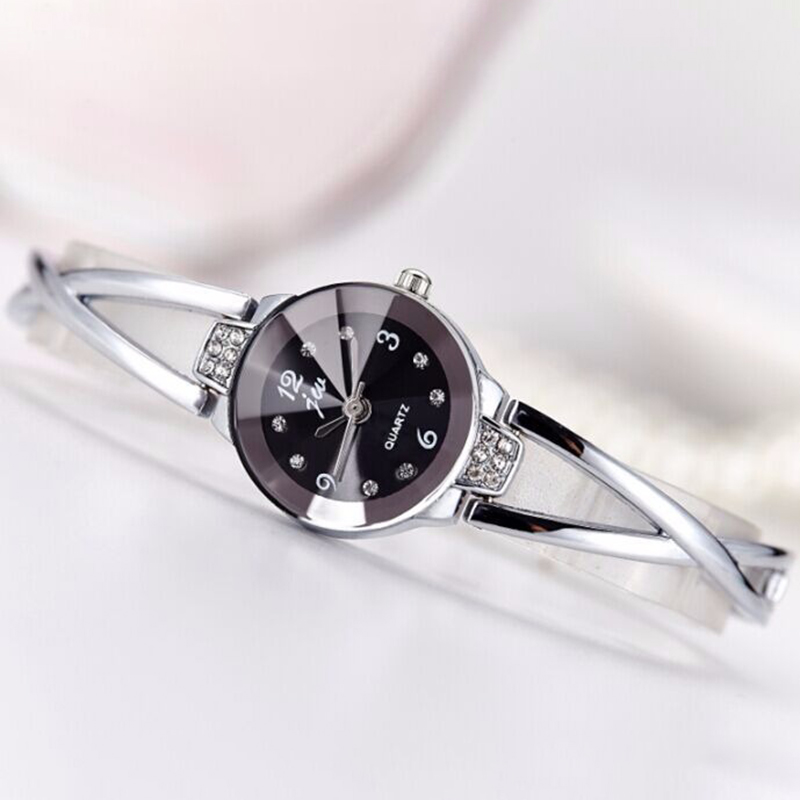 Fashion Women Steel Bracelet Ladies Dress Quartz Watch