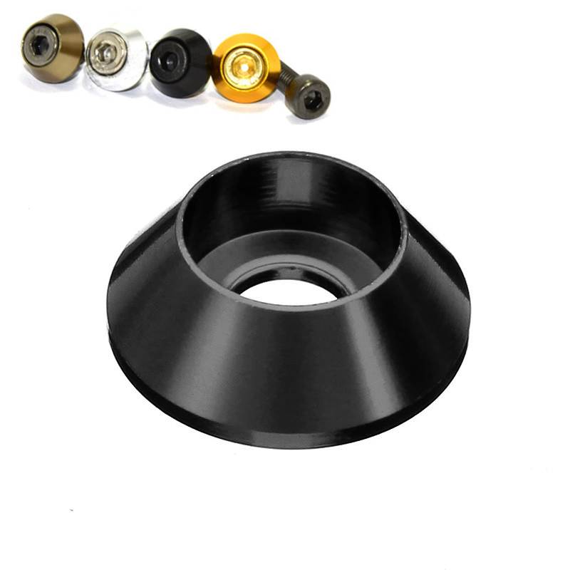 Suleve™ M3AN6 10Pcs M3 Cup Head Hex Screw Gasket Washer Nuts Aluminum Alloy Multicolor