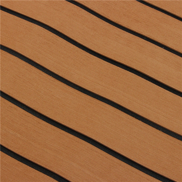 90x240cm Light Brown with Black EVA Foam Teak Boat Flooring Sheet Yacht Synthetic Teak Decking Pad