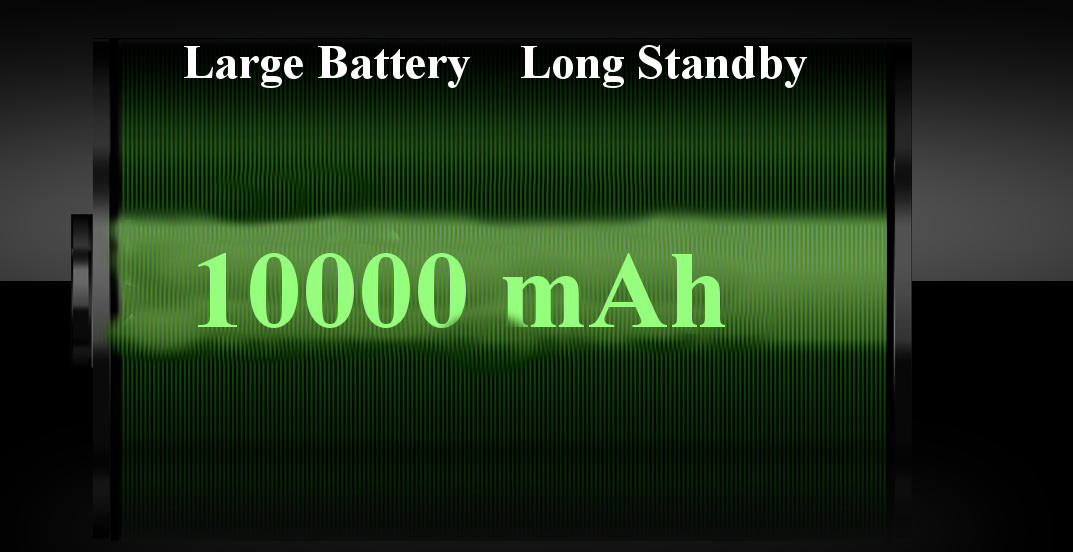D9000 2.6'' 10000mAh Power Bank Flashlight Dual SIM Long Standby Retro Military Feature Phone